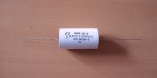 МКР 387S 0,47мкф/2500VDC/900VAC